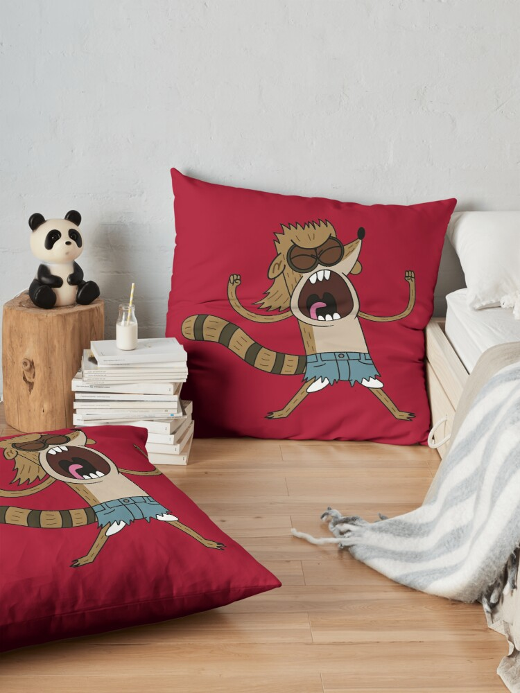 Alternate view of Rigby, The Death Kwon Do Freak Floor Pillow