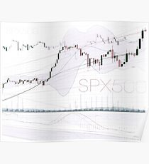 Stock market charts trading and investment concept art photo print Poster