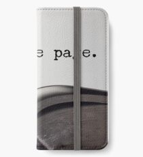 Turn The Page iPhone Wallet/Case/Skin