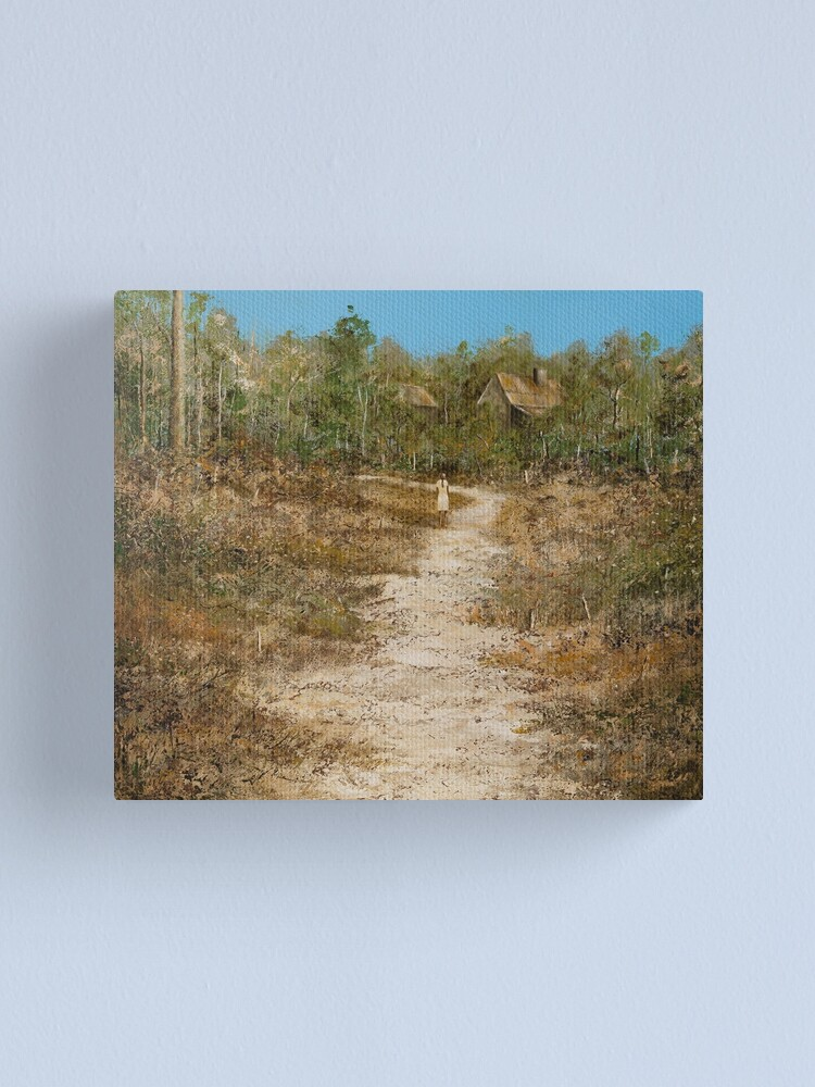 Alternate view of GIRL ON THE TRACK Canvas Print