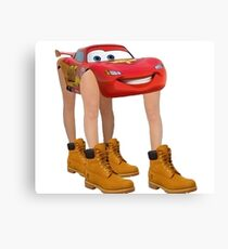 Lightning McQueen With Legs Canvas Print