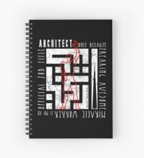 Arabic Typography Architect Spiral Notebook