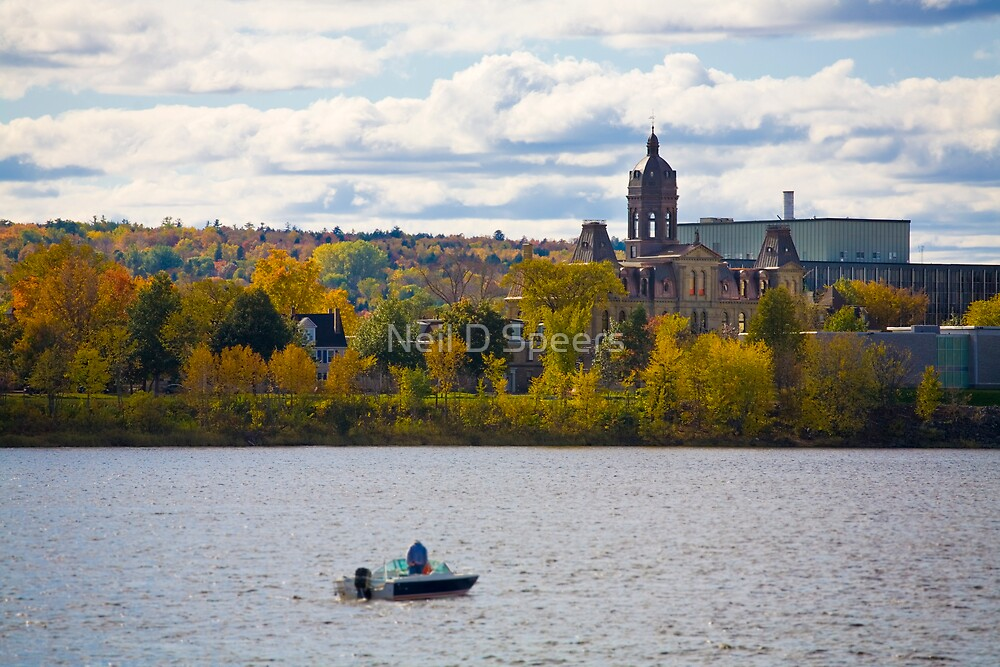 Fredericton NB, on the water by Neil D Speers