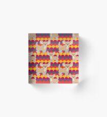 Chihuahua Scalloped Pattern Acrylic Block