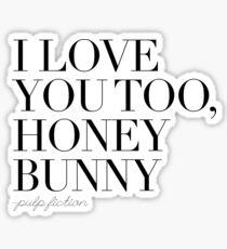 Pulp Fiction quote Sticker