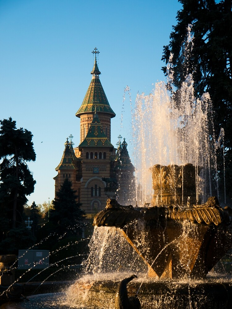 Timisoara Fountain by Rae Tucker