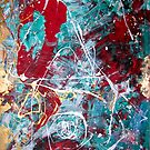 Red Sea Reveals Its Gold, Original Abstract by Dmitri Matkovsky