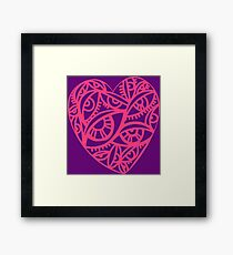 Vector  with beautiful decorative heart  Framed Print