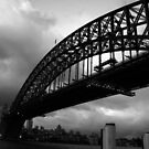Black & White Harbour Bridge by Bec Mooney