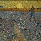 Original Vincent Willem van Gogh Impressionist Art Painting Restored The Sower by jnniepce