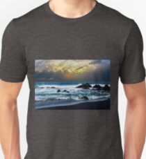 Dramatic sunrise over the ocean before storm Unisex T-Shirt