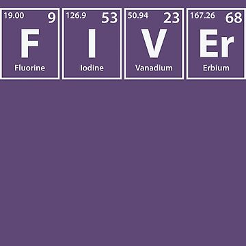 Fiver (F-I-V-Er) Periodic Elements Spelling by cerebrands