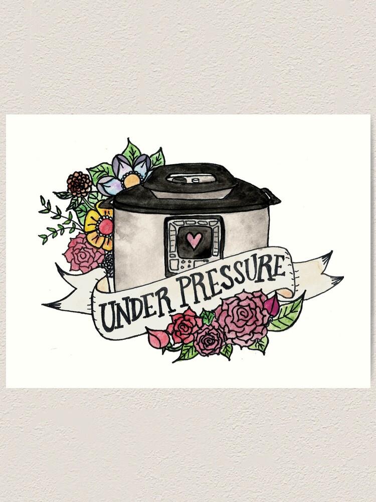 Alternate view of Pressure Cooker Instant Pot Tattoo Style Art Art Print