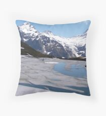 Bachalpensee with Fieschornen in the background, May 2004 Throw Pillow