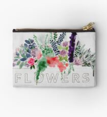 Watercolor Flower Box Studio Pouch