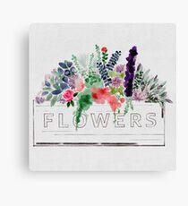 Watercolor Flower Box Canvas Print