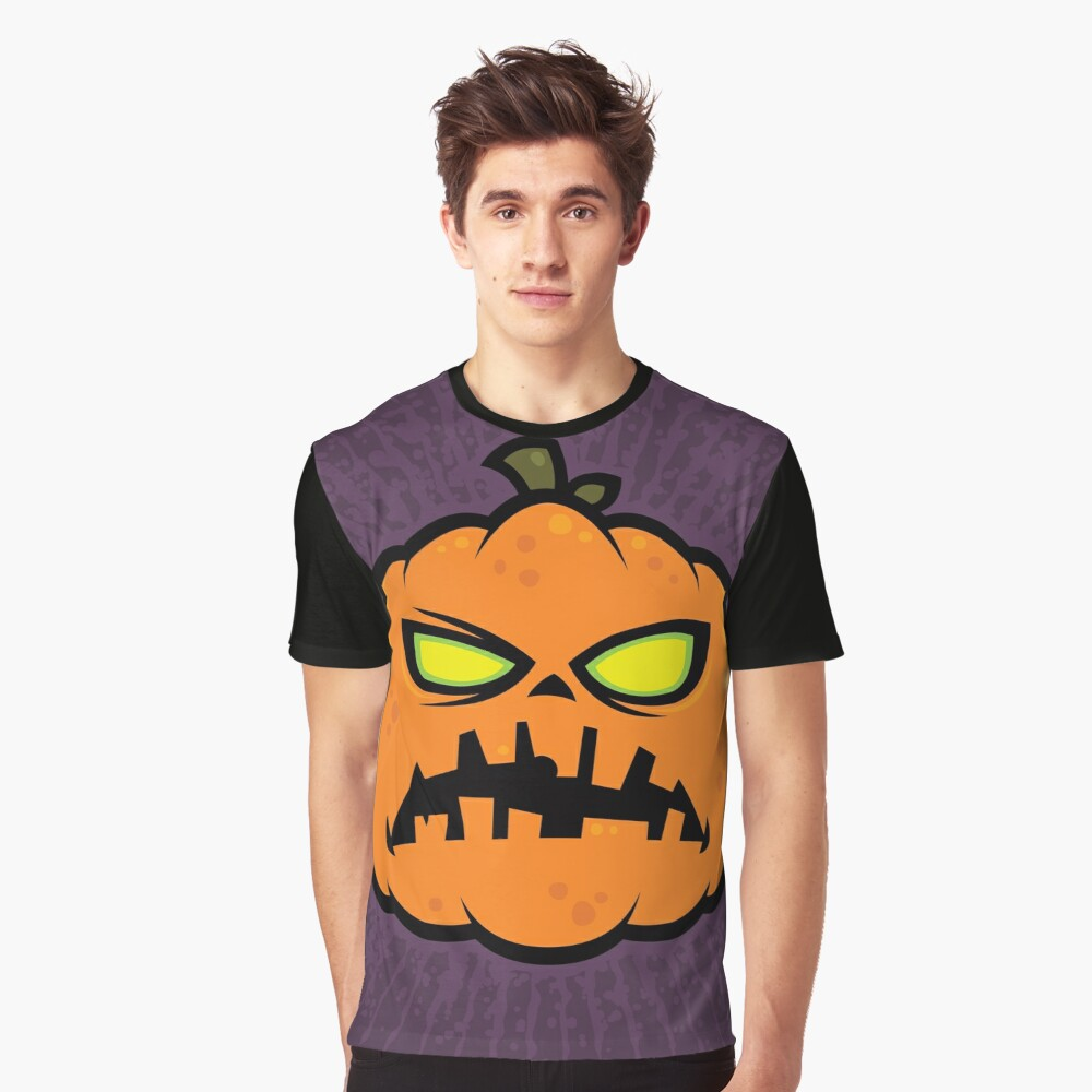 Pumpkin Zombie Graphic T-Shirt