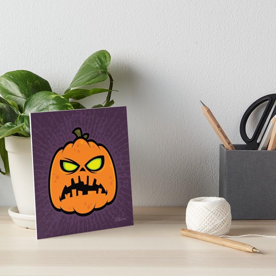 Pumpkin Zombie Art Board Print