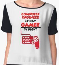Gamer programmer T shirt Chiffon Top