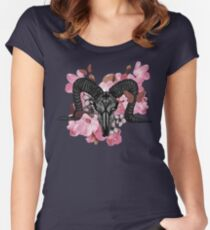Ram Skull II Women's Fitted Scoop T-Shirt