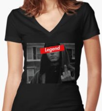 EMINEM LEGEND1 DESIGN Women's Fitted V-Neck T-Shirt