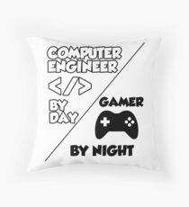 Gamer programmer T shirt Throw Pillow