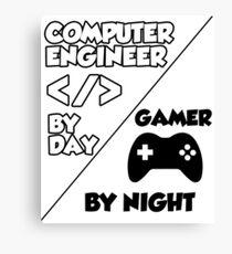 Gamer programmer T shirt Canvas Print
