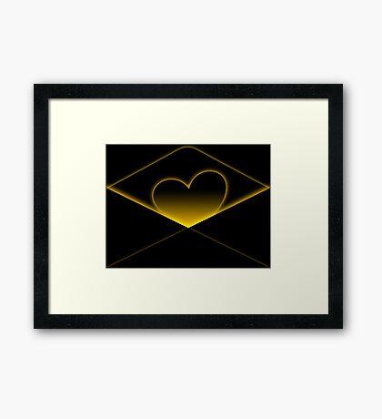 Enclosing my heart inside Framed Print