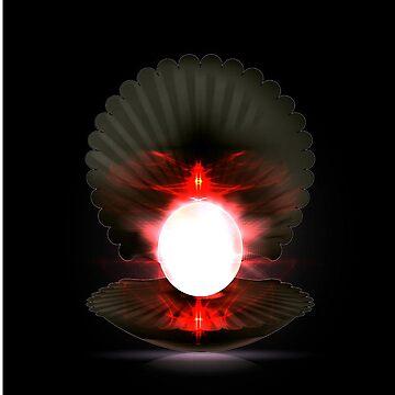 Illuminating Winged Pearl by mugendesigns
