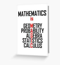 Mathematics Is Magic- Funny Maths Joke Greeting Card