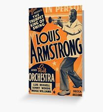 Louis Armstrong Vintage Greeting Card