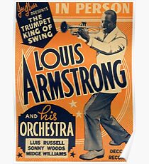 Louis Armstrong Vintage Poster