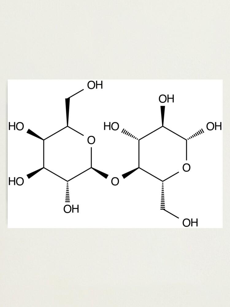 Estructura Lactosa Azúcar De La Leche Molécula Química Lámina Fotográfica