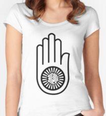 Ahimsa Compassion Virtue Symbol Women's Fitted Scoop T-Shirt