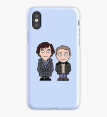 Sherlock and John mini people iPhone Case