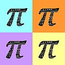 Pi Day Graphic Pastel Squares by Marianne Campolongo