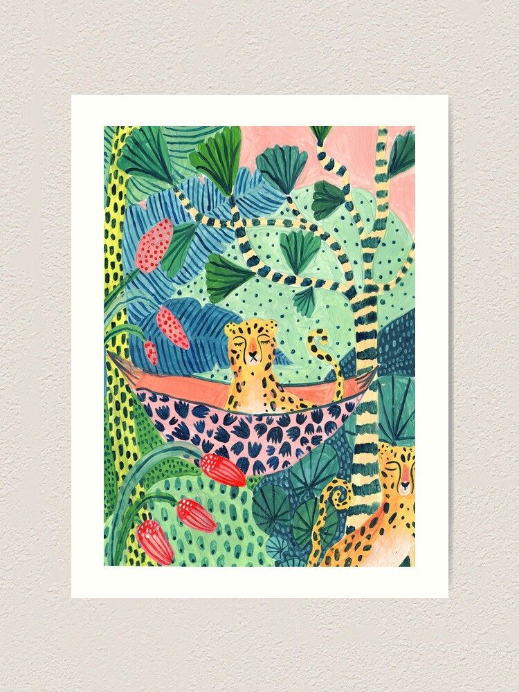 Alternate view of Jungle Leopard Family! Art Print
