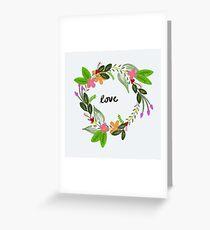 Love Wreath Greeting Card
