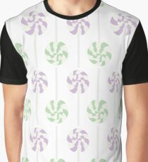 Purple & Green Lollipops Graphic T-Shirt