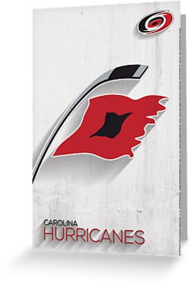 Carolina Hurricanes Minimalist Print by SomebodyApparel