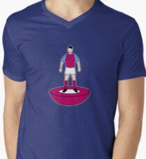 WEST HAM TABLE FOOTBALL TEAM KIT COLOURS Men's V-Neck T-Shirt