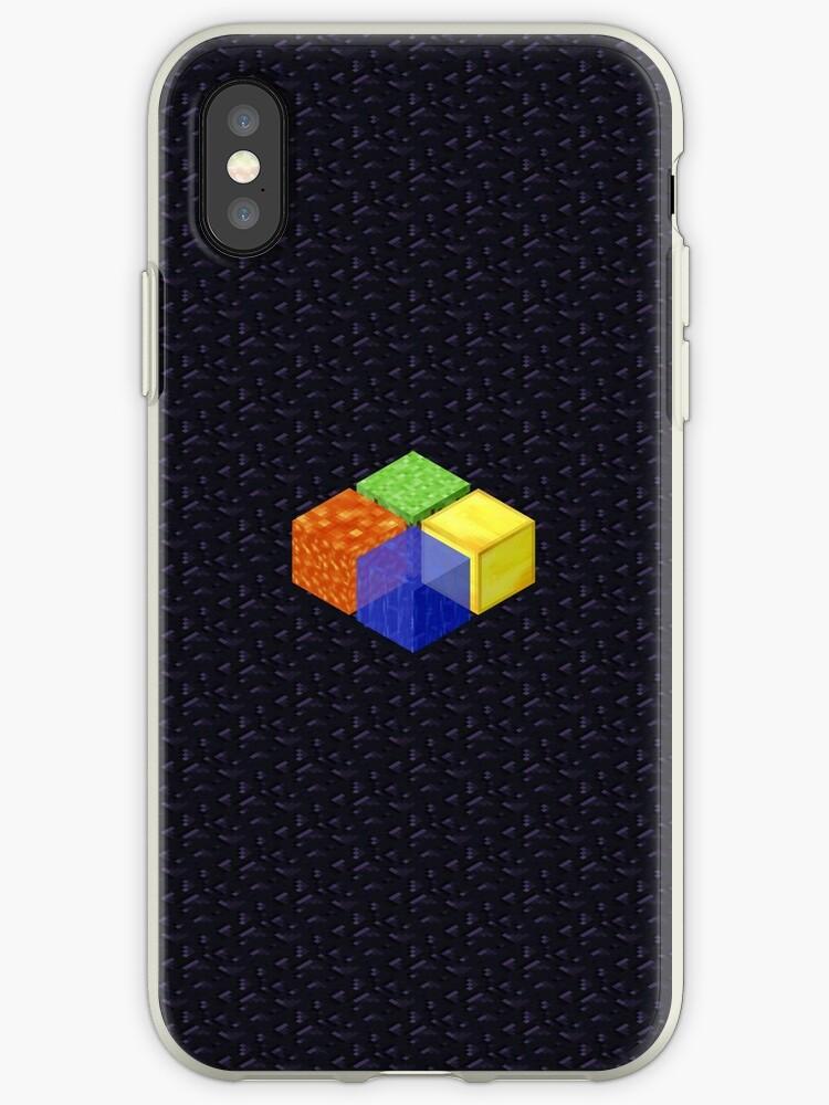 Minecraft Block Microsoft Logo on Obsidian by kb000