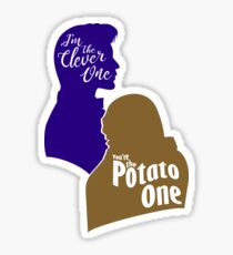 """I'm the Clever One. You're the Potato One."" Sticker"