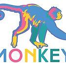 Happy Monkey by evisionarts