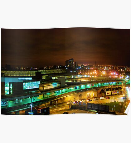 Piccadilly Station at night Poster