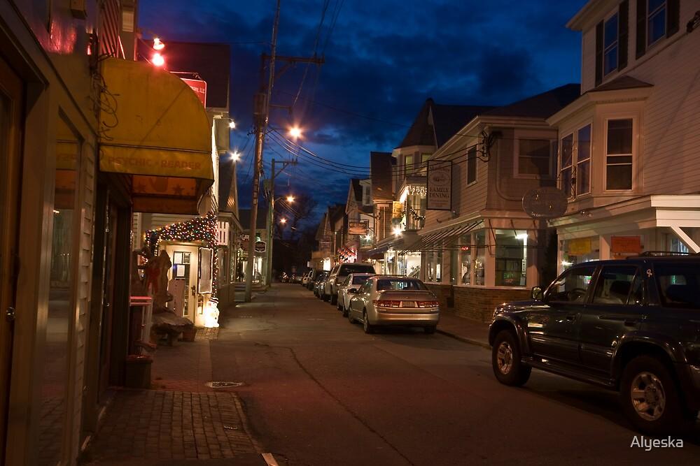 Provincetown, Friday Night in December by Alyeska
