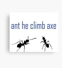 Anticlimax only the clever will get it ! Redbubble silly tease best selling, top selling redbubble artist Canvas Print