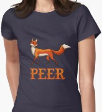 Peer Fox Women's Fitted T-Shirt