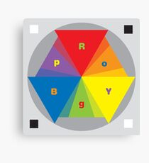 Color Wheel red yellow blue Artist Clock Canvas Print