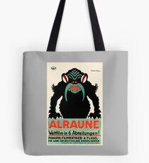 1918 Alraune Hungarian Horror Film Movie Poster Tote Bag